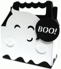 cute ghost box shape from the Silhouette Design Store! Dulceros Halloween, Moldes Halloween, Halloween Cards, Holidays Halloween, Halloween Treats, Halloween Pumpkins, Silhouette Projects, Silhouette Design, Halloween Treat Holders