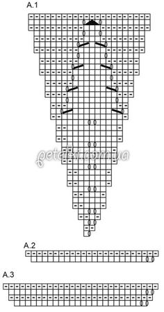 Джемпер с центральным цветком. Описание, схемы вязания