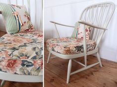 Vintage painted Ercol armchair - super retro or cottage furniture