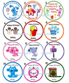 Blues Clues Edible cookie cupcake tops birthday party decoration. $6.45, via Etsy.