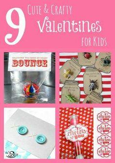 These are all SUPER cute! 9 Cute & Crafty Valentines for Kids http://thestir.cafemom.com/big_kid/167155/9_creative_diy_valentines_for?utm_medium=sm&utm_source=pinterest&utm_content=thestir