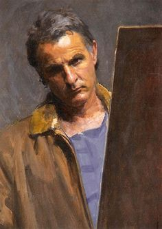 Robert Hannaford (1944 - ) Self-portrait 1990