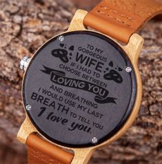 Great Gifts To My Daughter Engraved Wooden Watch Great Gifts For Wife, Gifts For Husband, Love Gifts, Diy Gifts, Mother Daughter Quotes, To My Daughter, Daughters, Mother Quotes, Mom Quotes