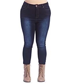 Dark Wash Skinny Jean  | Wet Seal Plus #plussize #plussizefashion #curvy #denim