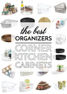 Learn how to organize corner kitchen cabinets in this post full of easy ideas for taking advantage of every (awkward) inch!