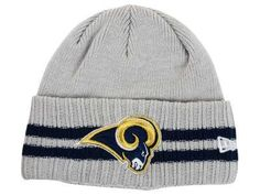e67495f840bede Mens / Womens St. Louis Rams New Era 2016 Big Deals NFL 2 Striped Cuff Knit  Skull Basic Beanie Hat - Grey / Navy