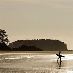 Tofino, Vancouver Island BC Canada.  Most western point of Canada.  Beautiful beaches but cold and windy the whole week I was there......