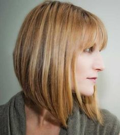 Angled Bobs with Bangs | http://www.short-haircut.com/angled-bobs-with-bangs.html