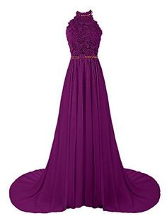 Purple O-neck lace up flower belt chiffon special high quality long Floor-length Prom Dresses Gown,cheap formal prom gown BD1705366