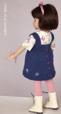 """""""The Gift of Learning"""", a handmade OOAK ensemble made for Dianna Effner's Little Darling dolls, cindyricedesigns.com"""