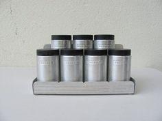 Vintage Mid Century Kromex Spun Aluminum Spice by DaveysVintage