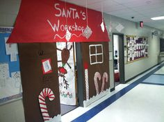 Christmas Door Decoration Ideas for School Beautiful Pin On Santas Workshop School Door Decorations, Office Christmas Decorations, Christmas Themes, Kids Christmas, Christmas Crafts, Holiday Decor, Christmas Program, Outdoor Christmas, Merry Christmas