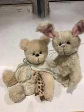 My babies I love you by Shaz bears - Bear Pile Australian Artists, Cotton Lace, Teddy Bears, I Love You, Hand Sewing, Doll Clothes, Bunny, Dolls, Feelings
