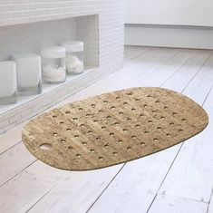Cork And Rubber Bath Mat With Natural Cork Veneer. Cork and rubber bath mat is manufactured from 100% natural cork and recycled rubber with a natural cork veneer on one side