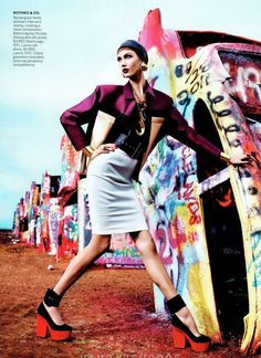 Karlie Kloss photographed by Mario Sorrenti and styled by Grace Coddington for Vogue US March 2012.