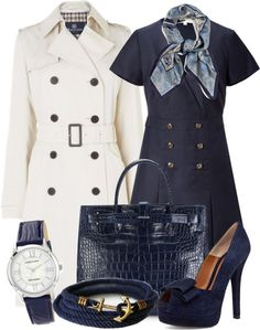 """""""Navy Blue Style"""" by gangdise on Polyvore"""
