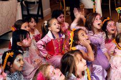 Rapunzel tea party girls