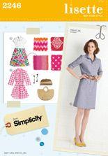 lisette.  traveler dress sewing pattern