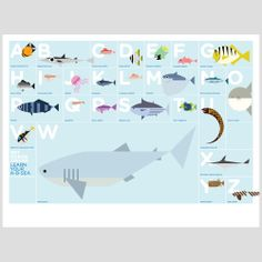 cool A-B-Sea poster for a nautical room!