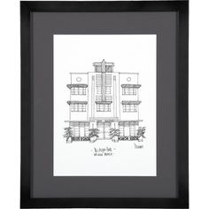 Cityscape Miami Print ($40) ❤ liked on Polyvore