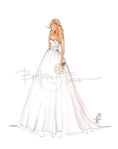 Brittany Fuson: Custom Bridal Illustrations