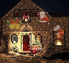 Holiday Themed Light Projector with 12 Festive Slides