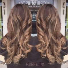Milk chocolate hair with honey ombre.