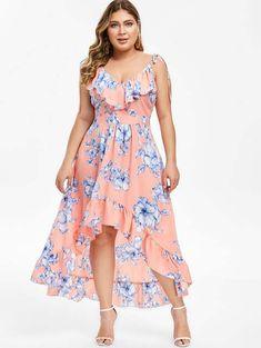 Длинные платья и сарафаны для полных девушек и женщин английского бренда DressLily лето 2019