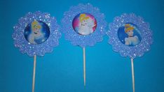Cinderella Cupcake Toppers Party Favors Theme Cake Toppers