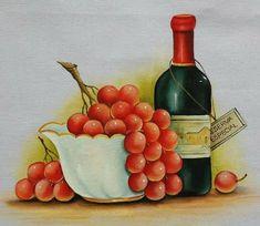 Wine Rack, Chalkboard, Decoupage, Fruit, Painting, Eve, Ideas, Dish Towels, Folk Art