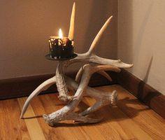 Deer Antler Candle Holder