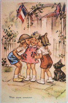 Germaine Bouret (Mes deux amours) HELP ! Si vous pouvez me procurer (vendre)cette carte postale . . .