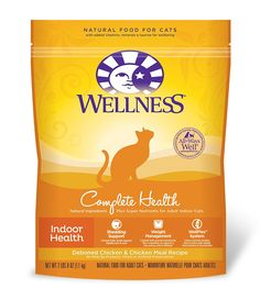 Wellness Complete Health Natural Dry Indoor Cat Food, Chicken, 2.5-Pound Bag * Hurry! Check out this great product : Cat food