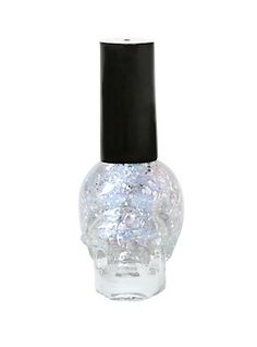 Blackheart Beauty Silver Splatter Nail Polish,