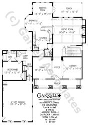 Courtland House Plan | House Plans by Garrell Associates, Inc
