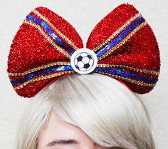 FC Barcelona inspired Headband Bow • Mens Soccer • Fan Hat • Lionel Messi • Neymar • Suárez • Iniest