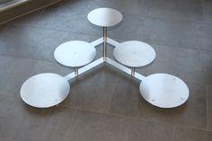 Support à gâteaux à étages en aluminium pour mariage tortenetagere 3 étages 5 plateaux : 20, 24 et 28 cm: Amazon.fr: Cuisine & Maison