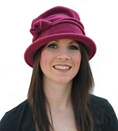 Ladies Super Soft Fleece Cloche Hat With Piping & Bow Detail Purple Accessories, Trilby Hat, Caps Hats, Women's Hats, Sun Hats, Couture, Hats For Women, Baseball Cap, Bucket Hat