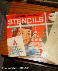 Vintage Glass Wax Christmas Stencils Decorations in Package | eBay