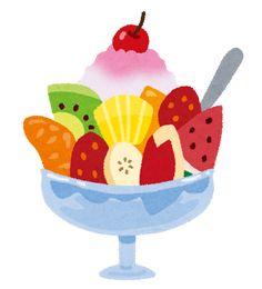 フルーツかき氷のイラスト