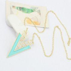 Tribal Triangle Irregular Geometry Necklace Sweater Chain Statement Jewelry