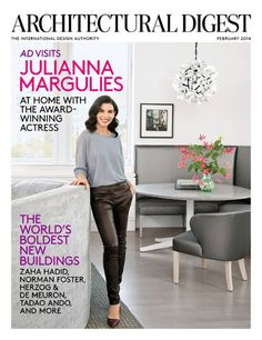 Love Architectural Digest Magazine and love her.