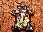 Belle Disney Pin - Princess Pin Trading - 4 Pin Booster Collection - Gold Frame #EasyNip