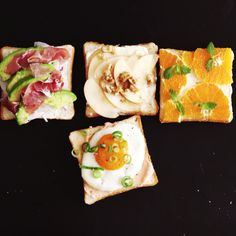 How to make Assorted Open-Faced Sandwiches.