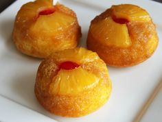 No one can resist pineapple upside-down cake! Make this retro-inspired dessert mini with this oh-so-easy recipe. They'll be on the dessert tray in less than an hour. If you want to skip cutting the pineapple rings, you can buy crushed pineapple instead—just divide it evenly among the muffin cups.