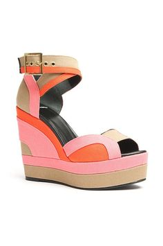 6bee1fbe8 Pierre Hardy Tri-Color Wedge Sandal