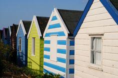 Beach huts on parade