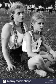 BDM girls on a sports festival Stock Photo