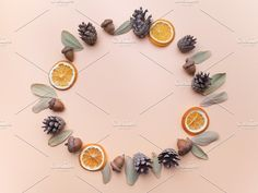 Creative framework on pink. Flat lay, top view. Christmas background wallpaper. - Holidays