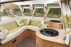 1957 vw bus custom lowered interior   1964 Volkswagen Camper 21 Window Samba Deluxe